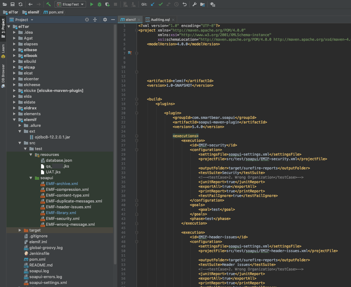 IntelliJ project for SoapUI projects