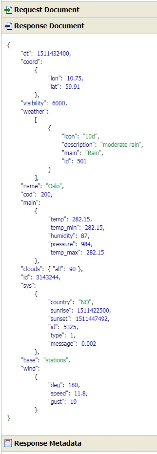 Call REST API in Service Bus 12 2 1 2 (JSON Request/Response
