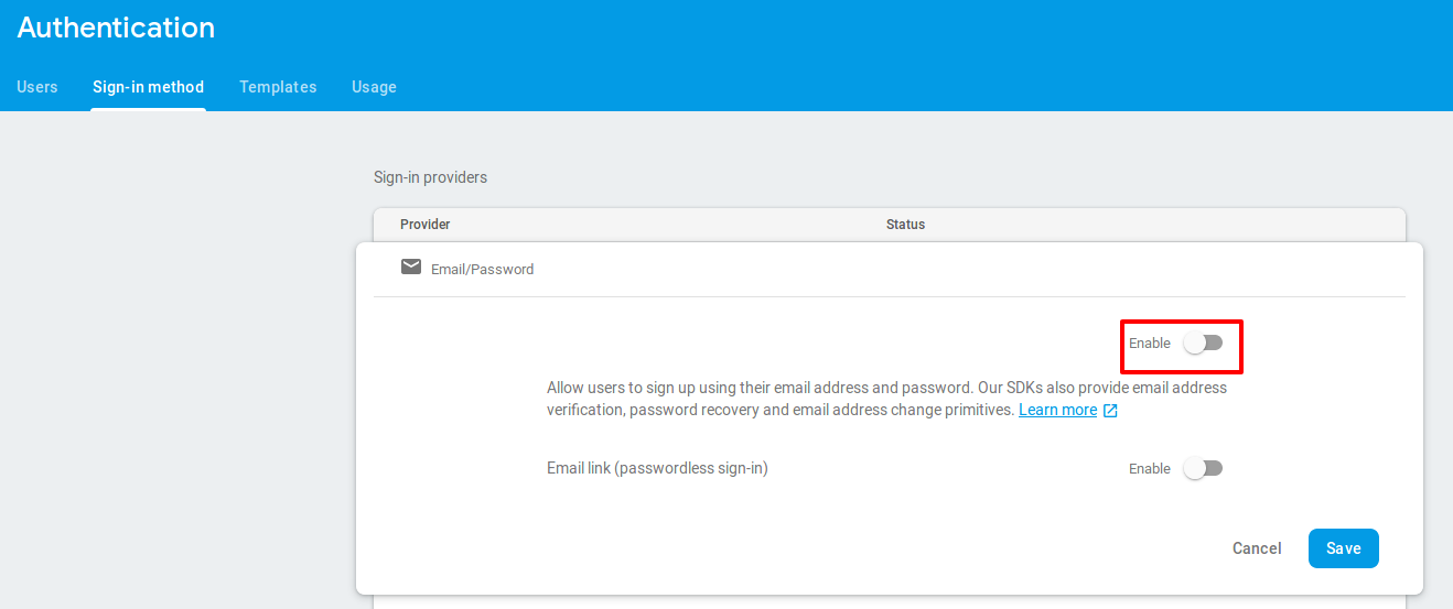 Getting started with firebase authentication · Sysco Middleware